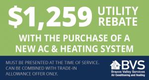 $1259 Utility Rebate