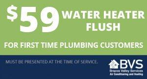 $59 Water Heater Flush