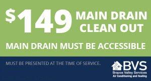 $149 Main Drain Clean Out