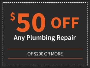 $50 off any plumbing repair of $200 or more