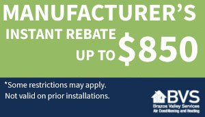 Manufacturer's Instant Rebate up to $850