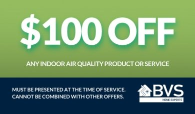 $100 off any indoor air quality
